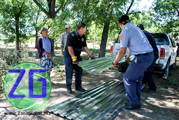 Se trata de 250 láminas galvanizadas gestionadas ante la Unidad Estatal de Protección Civil, que beneficiarán a aproximadamente 25 familias.